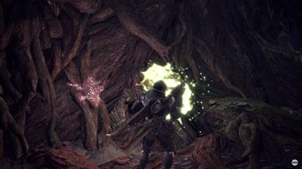 木に付着したモンスターの痕跡