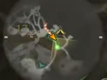 左下のマップでもシルベムシが光る
