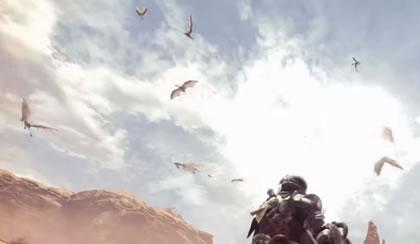 空を舞うメルノスの画像