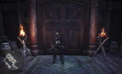 集会エリアのマイハウスの入り口