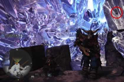 龍結晶の地の虹色ドスヘラクレスがいる場所