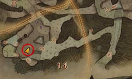 歴戦リオレウスの痕跡がある場所