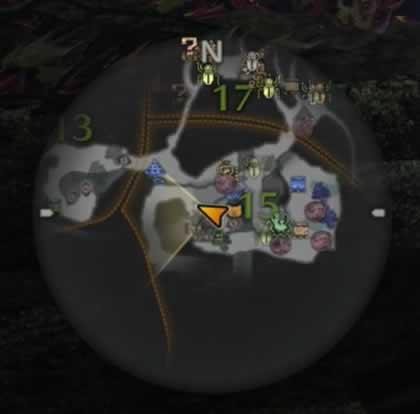 エリア15のリオレウスの痕跡がある場所